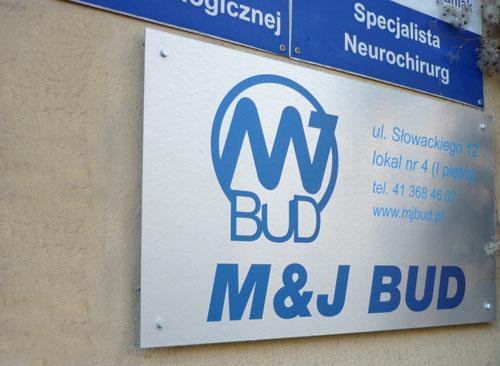 Oznakowanie firmy M&J Bud